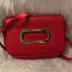 Banana  republic red leather bag